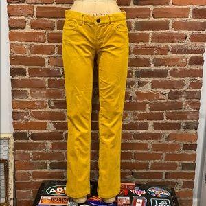 J. Crew Mustard Yellow Corduroy matchstick pants